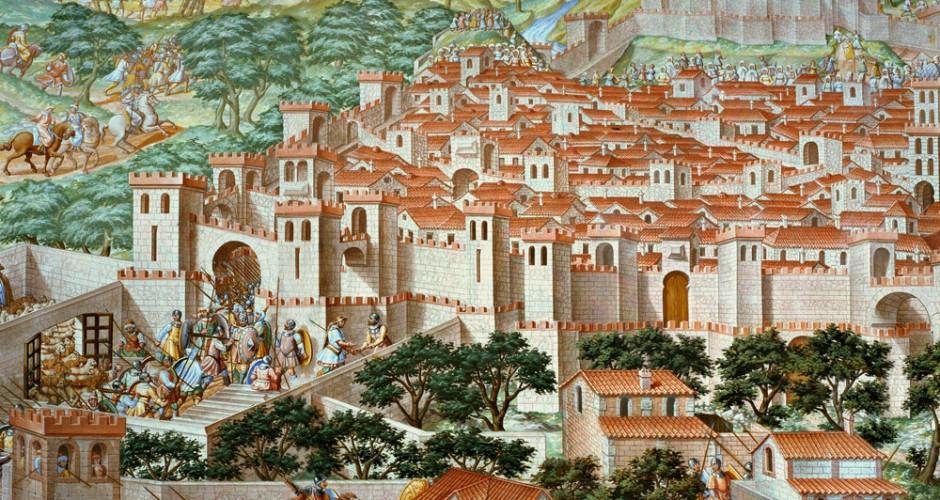 Granada según el fresco de la batalla de la Higueruela